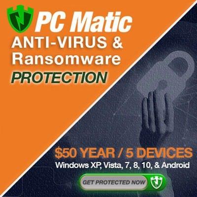 PC Matic Anti Virus Protection