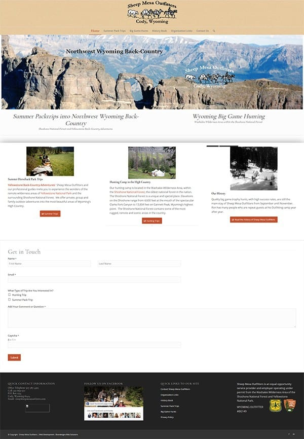 Sheep Mesa Outfitters Home Page