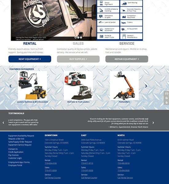 Bill's Equipment Home Page
