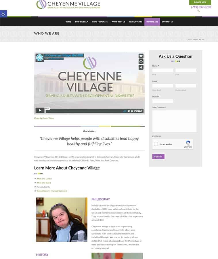 About Cheyenne Village