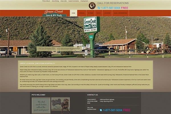 Green Creek Inn & RV Park home page