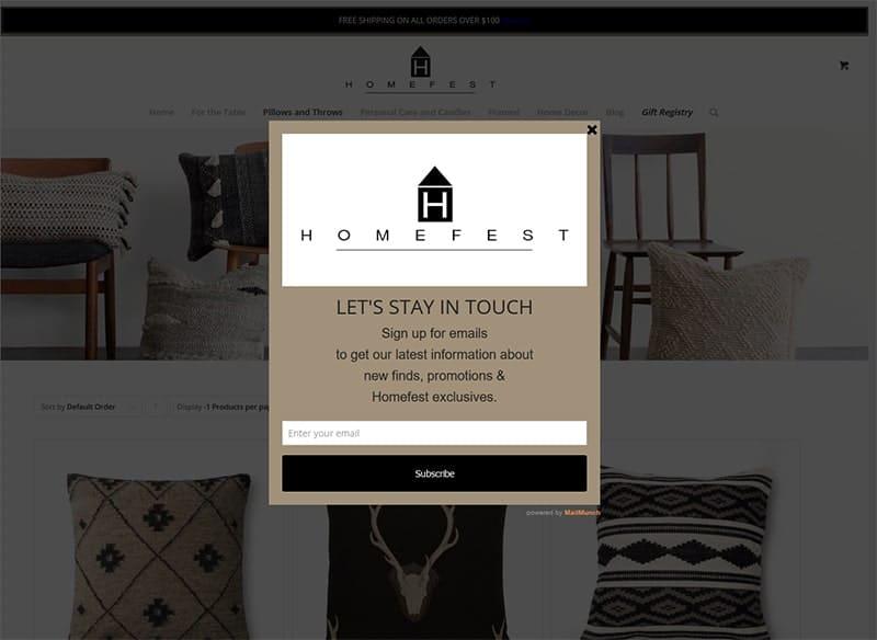 Homefest Decor' Newsletter Signup