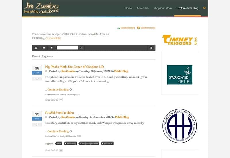Jim Zumbo Blog