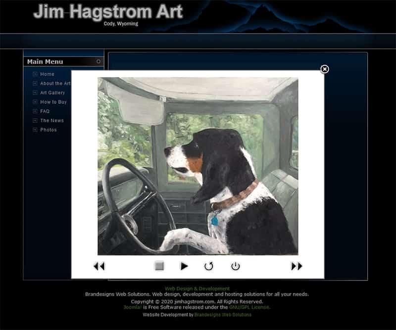 Jim Hagstrom - Painting Detail