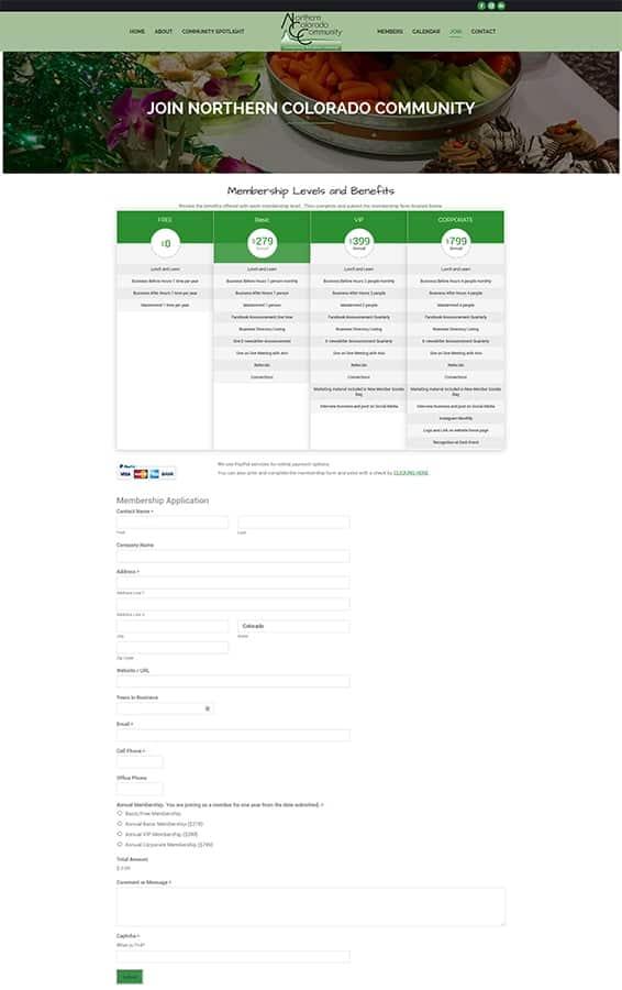 Northern Colorado Community Membership Form