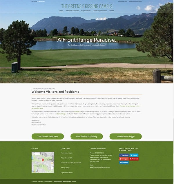 The Greens at Kissing Camels Home Page