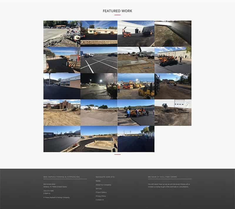 Mac Asphalt Paving Photo Gallery