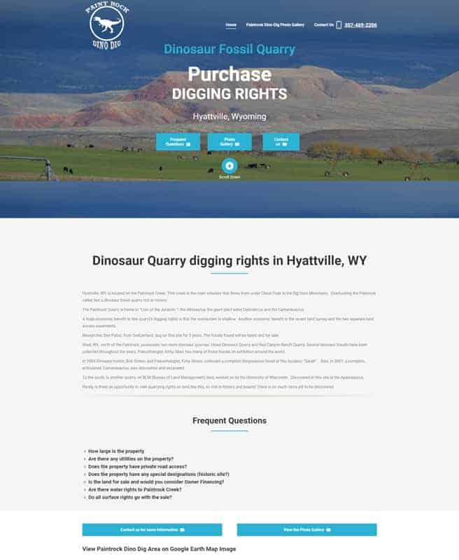 Paintrock Dino Dig- Hyattville, Wyoming