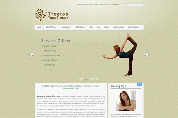Treetop Yoga Therapy Home Page