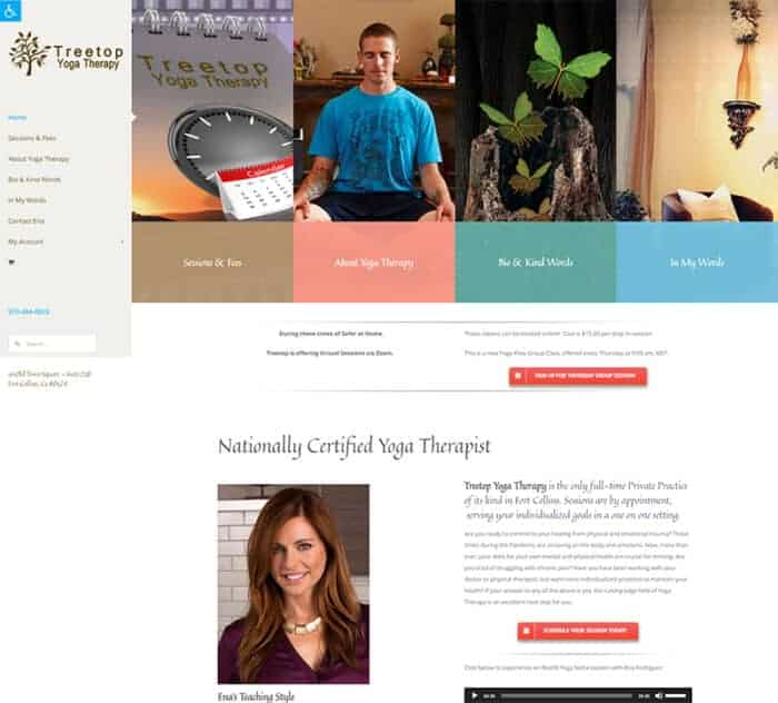 Treetop Yoga Therapy 2021 Home Page