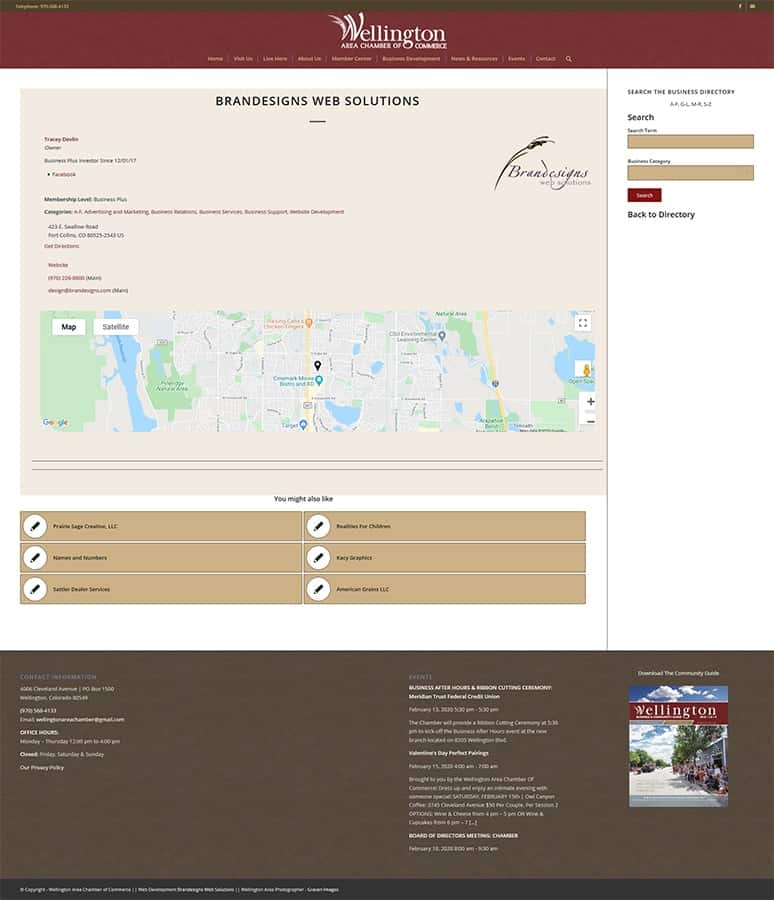 Wellington Colorado Chamber of Commerce Member Detail Page